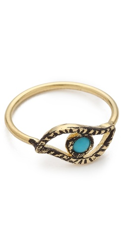 Jacquie Aiche Turquoise Eye Waif Ring