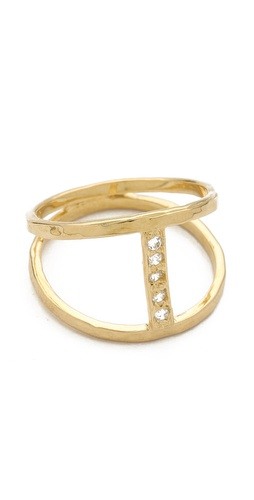 Jacquie Aiche Pave Center H Ring