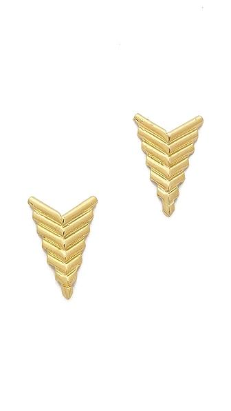 Jacquie Aiche JA Deco Arrow Stud Earrings