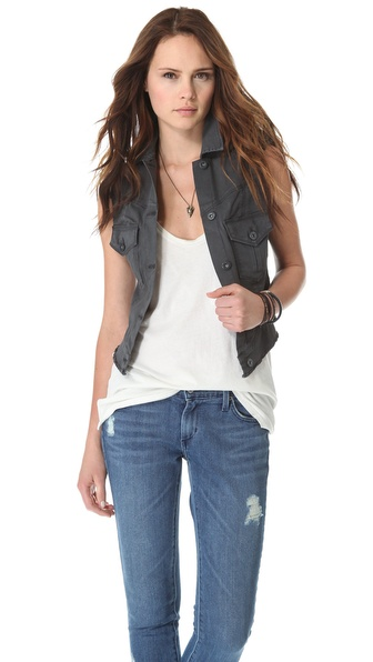 James Jeans Vega Cropped Safari Vest