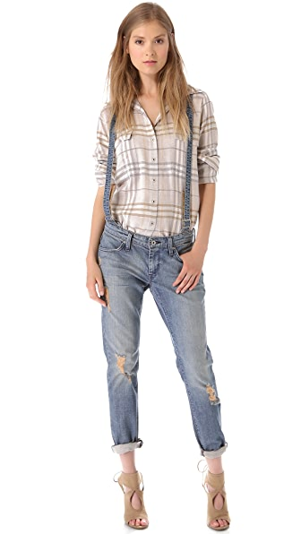 James Jeans Jojo Slouchy Suspender Trouser Jeans