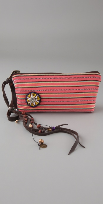 JADEtribe Karen Stripe Clutch