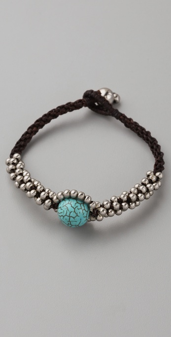 JADEtribe Silver & Turquoise Beaded Bracelet