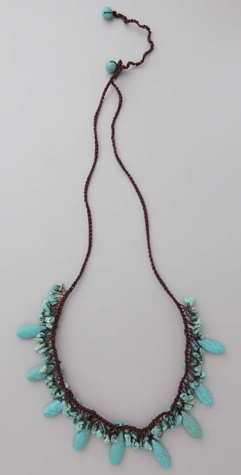 JADEtribe Turquoise Long Beaded Necklace