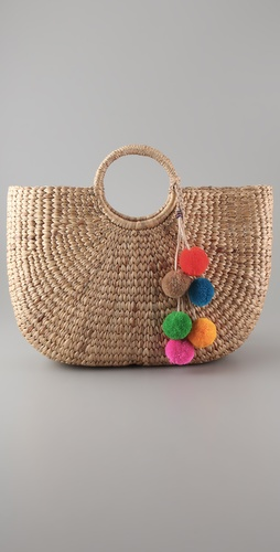 JADEtribe Pom Pom Beach Tote