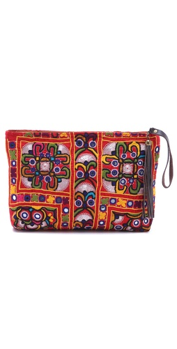 Shop JADEtribe Embroidered Clutch with Tassel and JADEtribe online - Accessories,Womens,Handbags,Clutch, online Store