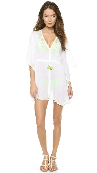 Jadetribe Yasmine Cover Up - White/Lime