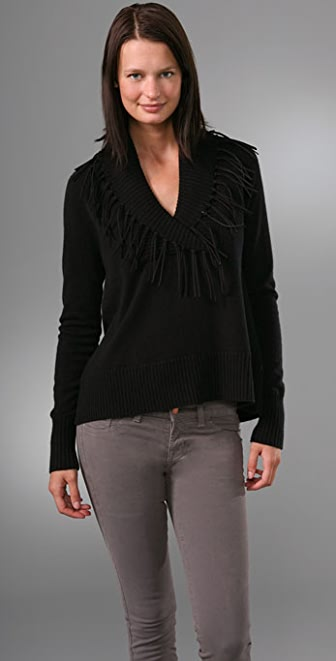 Jamison Alistar Pullover Sweater with Fringe