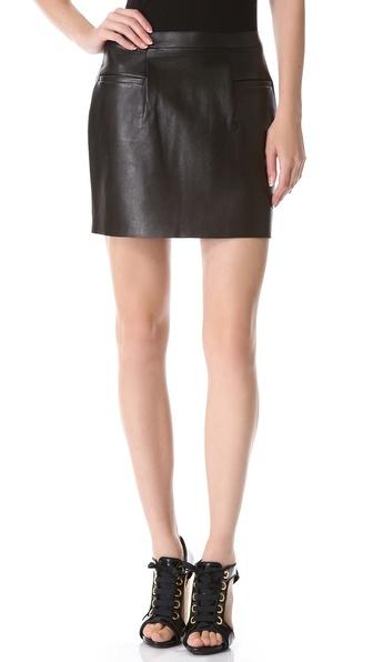 J.W. Anderson Leather Miniskirt