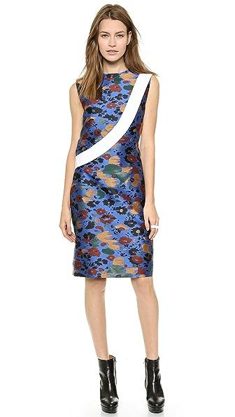 Kupi J.W. Anderson haljinu online i raspordaja za kupiti J.W. Anderson Jacquard Twill Look Panel Dress Blue online