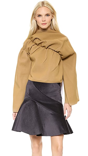 J.W. Anderson Ruched Sleeve Drape Top