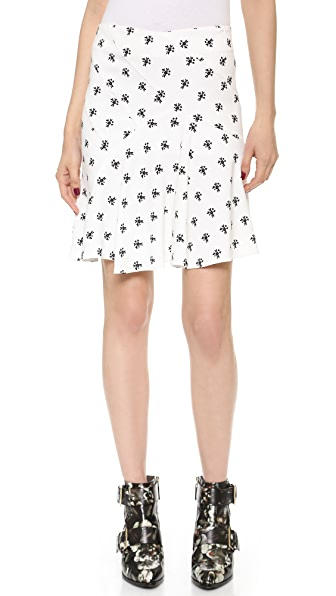 J.W. Anderson Floral Printed Spiral Miniskirt