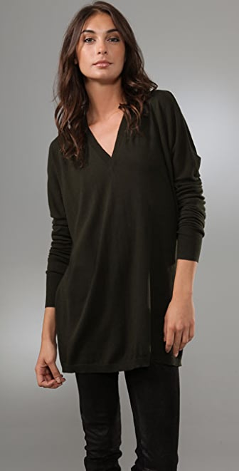 Jarbo Long Sleeve Deep V Sweater