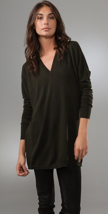 Jarbo Long Sleeve Deep V Sweater