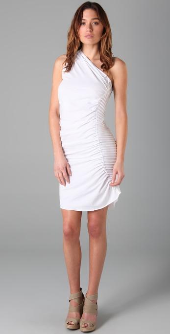 Jarbo One Shoulder Pintuck Dress
