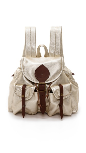 Jas Mb Bomber Mini Backpack - Gold at Shopbop / East Dane