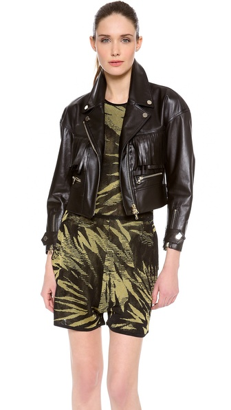 Jason Wu Leather Fringe Motorcycle Jacket