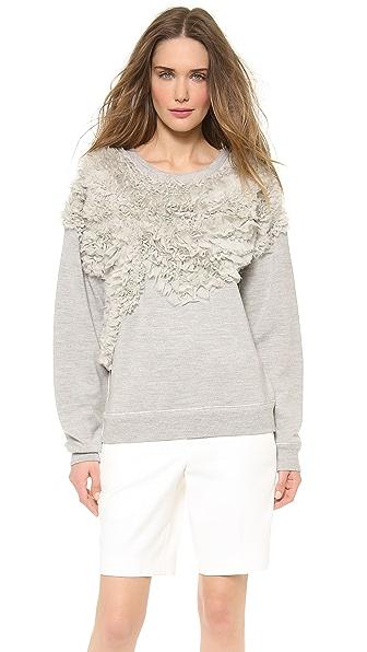 Jason Wu Chiffon Embroided Sweatshirt