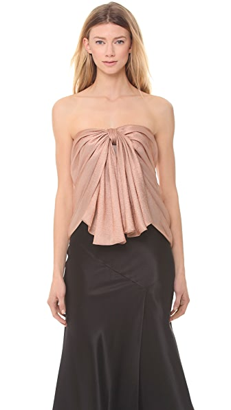 Jason Wu Metallic Draped Corset Top