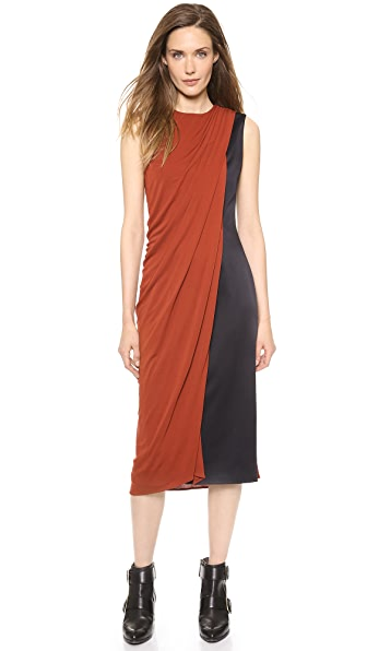 Jason Wu Drape Front Fitted Sheath Dress
