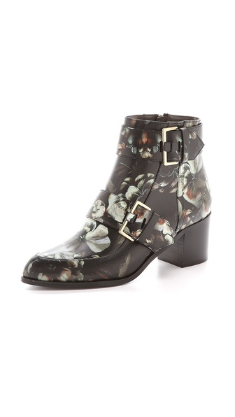 Jason Wu Floral Buckle Booties
