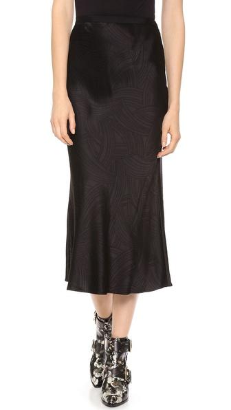 Jason Wu Bias Cut Midi Skirt