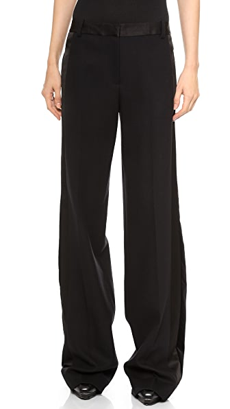 Jason Wu Wool Crepe Tuxedo Wide Leg Trousers