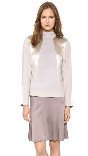 Jason Wu Alpaca and Satin Pullover
