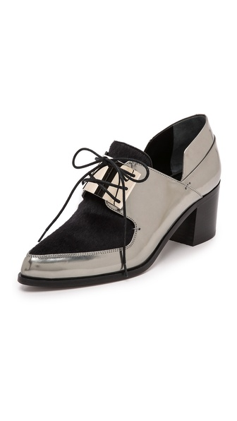 Kupi Jason Wu cipele online i raspordaja za kupiti Jason Wu Mirrored Haircalf Oxfords Silver cipele