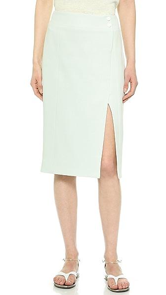 Jason Wu Faux Wrap Pencil Skirt - Light Glass