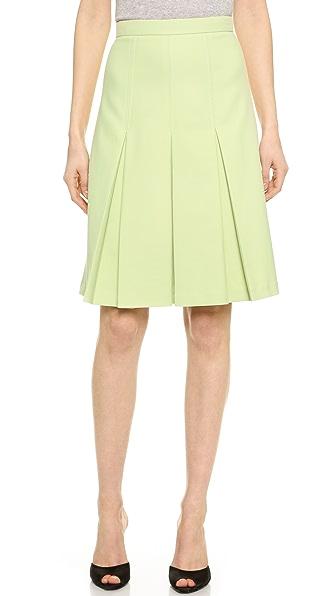 Jason Wu Cotton Twill Box Pleat Skirt - Light Celadon