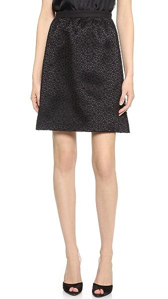 Jason Wu Corded Lace Skirt - Black