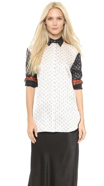 Jason Wu Paisley Long Sleeve Shirt