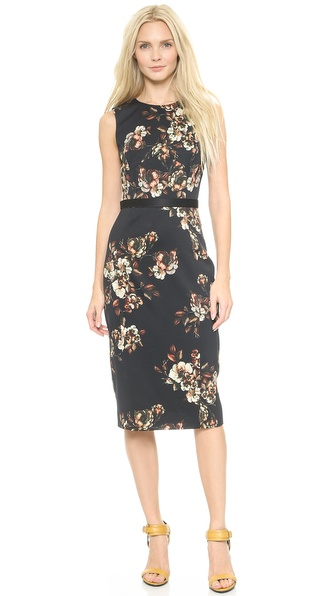 Shop Jason Wu online and buy Jason Wu Crepe Floral Dress Multi - A painterly floral print lends a romantic feel to a simple, clean lined Jason Wu dress. A crossover panel frames the deep V back, giving way to a figure defining belt. Covered back zip. Vented hem. Lined. Fabric: Crepe. Shell: 100% viscose. Trim: 70% acetate/30% viscose. Lining: 100% silk. Dry clean. Made in the USA. Measurements Length: 38in / 96.5cm, from shoulder Measurements from size 4. Available sizes: 4,8