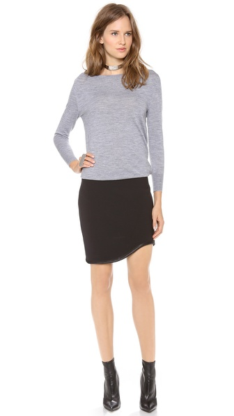 Jay Ahr Layer Dress with Curved Hem