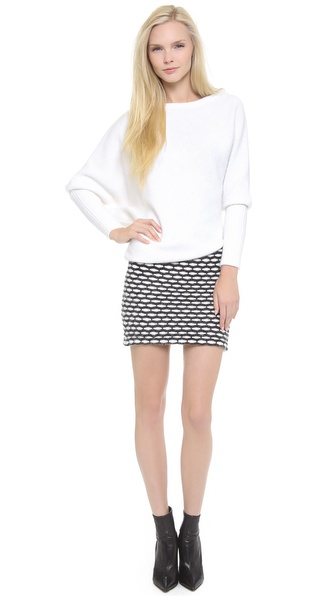 Jay Ahr Asymmetrical Sweater Dress