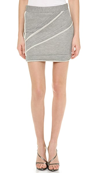 Jay Ahr Reverse Piping Miniskirt