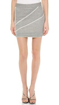 Jay Ahr Reverse Piping Miniskirt