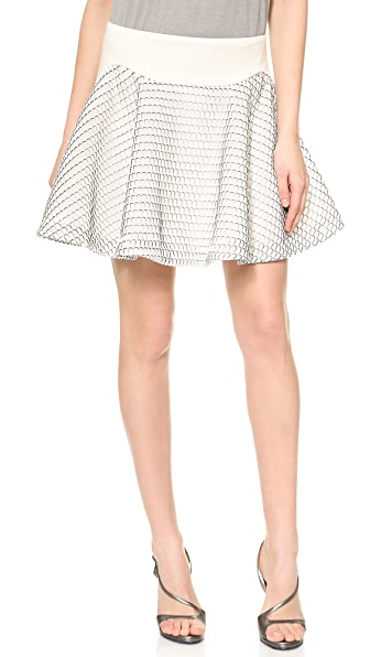 Jay Ahr Honeycomb Miniskirt