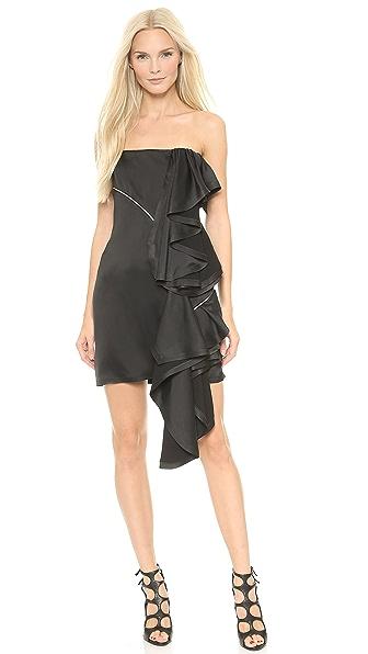 Jay Ahr Ruffle Strapless Dress