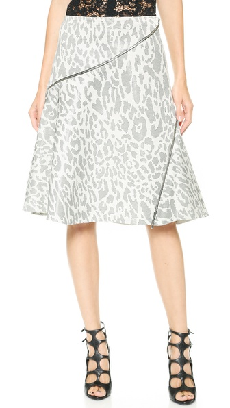 Jay Ahr Leopard Skirt