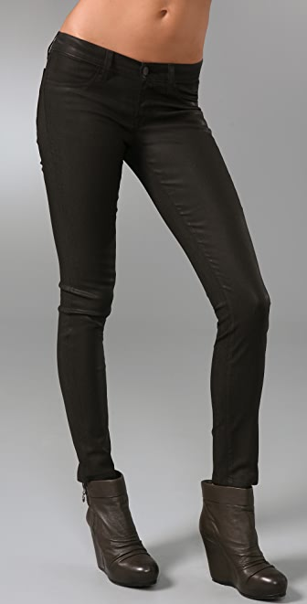 J Brand Waxed Chocolate Leggings