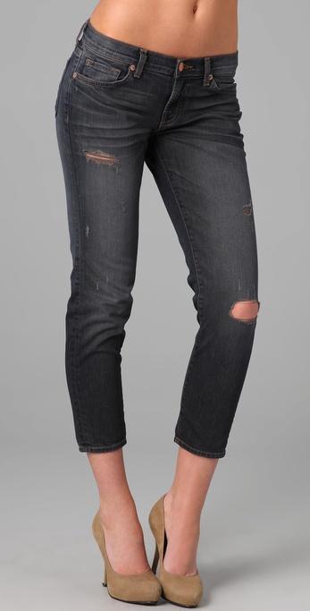 J Brand Aoki Cropped Boyfriend Jeans