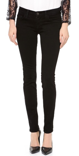 Shop J Brand online and buy J Brand 910 Low Rise Ankle Skinny Jeans - These skinny jeans feature 5-pocket styling and a single-button closure. Wrinkling at front. 10
