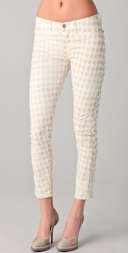 J Brand Houndstooth Skinny Jeans