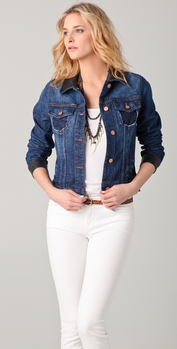 J Brand Denim & Leather Jacket