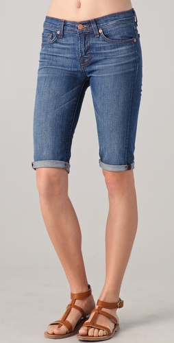 J Brand Low Rise Cuffed Denim Shorts