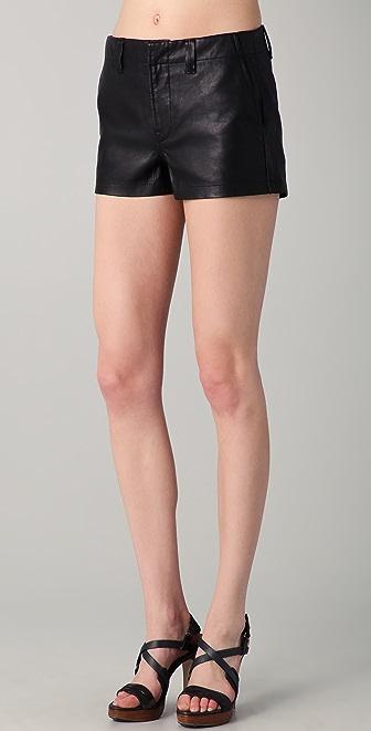 J Brand Lola Leather Shorts