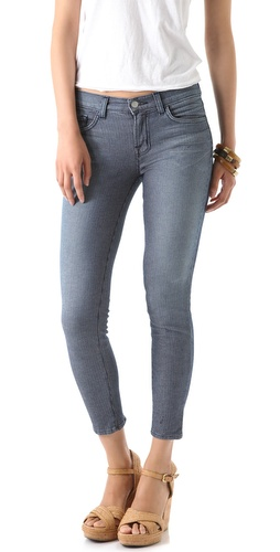 J Brand Railroad Stripe Capri Jeans