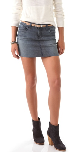J Brand Railroad Stripe Miniskirt